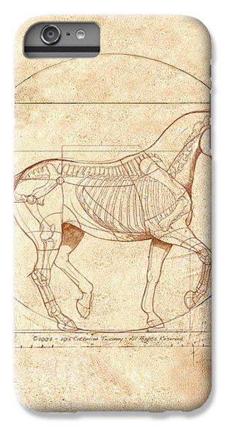 Animals iPhone 8 Plus Case - da Vinci Horse in Piaffe by Catherine Twomey