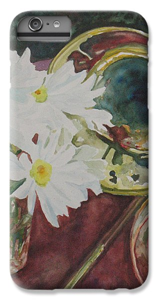 Trombone iPhone 8 Plus Case - Daisies Bold As Brass by Jenny Armitage