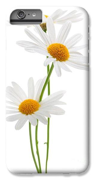Daisy iPhone 8 Plus Case - Daisies On White Background by Elena Elisseeva