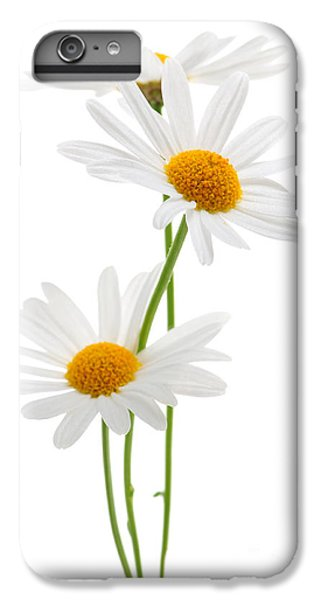 Daisy iPhone 8 Plus Case - Daisies On White Background by Elena Elisseeva