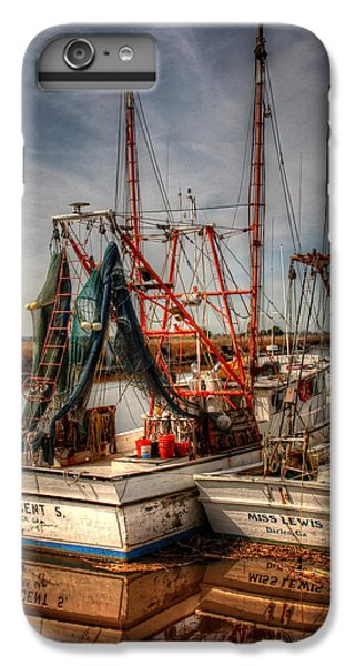 Shrimp Boats iPhone 8 Plus Case - Darien Boats by Greg and Chrystal Mimbs