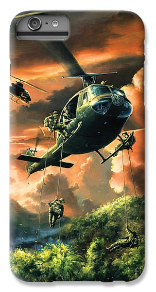 Helicopter iPhone 8 Plus Case - Descent Into The A Shau Valley by Randy Green