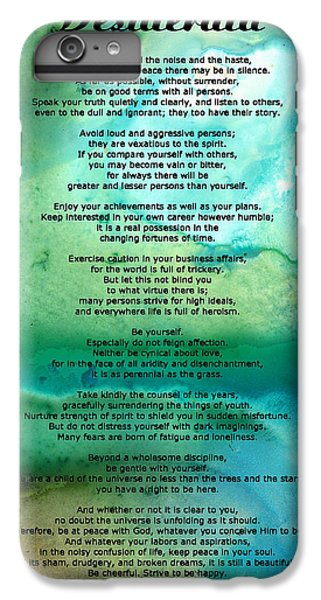 For iPhone 8 Plus Case - Desiderata 2 - Words Of Wisdom by Sharon Cummings