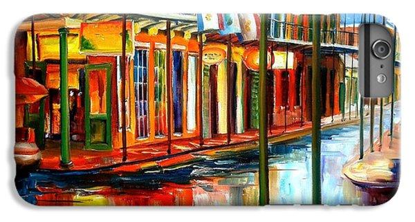 City Scenes iPhone 8 Plus Case - Downpour On Bourbon Street by Diane Millsap