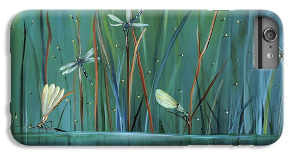 Impressionism iPhone 8 Plus Case - Dragonfly Diner by Carol Sweetwood