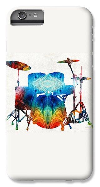 Drum iPhone 8 Plus Case - Drum Set Art - Color Fusion Drums - By Sharon Cummings by Sharon Cummings