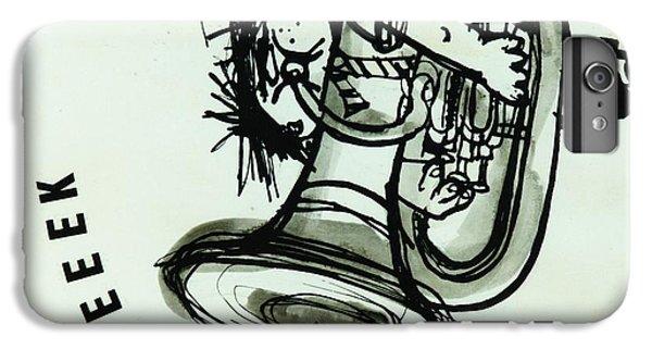 Trombone iPhone 8 Plus Case - Eeeeeeek! Ink On Paper by Brenda Brin Booker