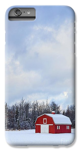 New England Barn iPhone 8 Plus Case - Embrace The Cold by Evelina Kremsdorf