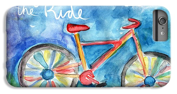 Bicycle iPhone 8 Plus Case - Enjoy The Ride- Colorful Bike Painting by Linda Woods