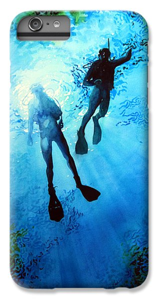 Scuba Diving iPhone 8 Plus Case - Exploring New Worlds by Hanne Lore Koehler