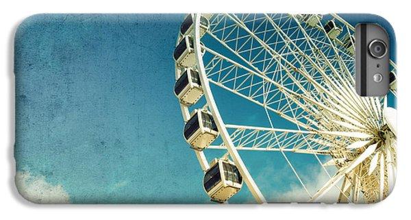 Cross iPhone 8 Plus Case - Ferris Wheel Retro by Jane Rix