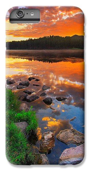 Red iPhone 8 Plus Case - Fire On Water by Kadek Susanto
