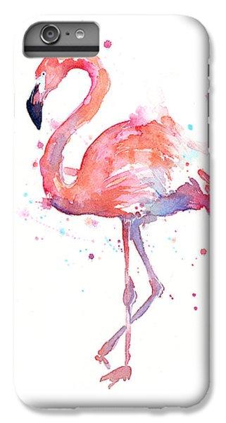 iPhone 8 Plus Case - Flamingo Watercolor by Olga Shvartsur
