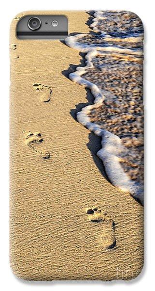 Sand iPhone 8 Plus Case - Footprints On Beach by Elena Elisseeva