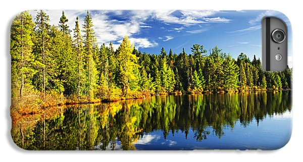 Landscapes iPhone 8 Plus Case - Forest Reflecting In Lake by Elena Elisseeva