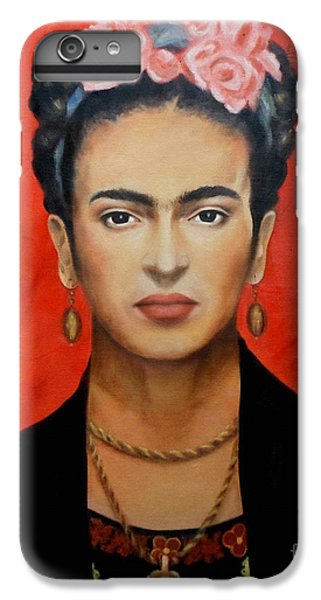 Red iPhone 8 Plus Case - Frida Kahlo by Yelena Day