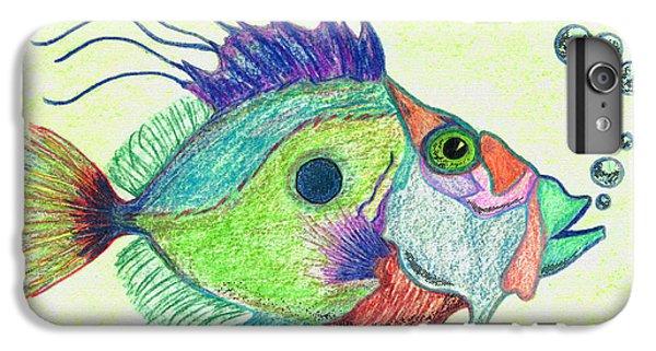 Scuba Diving iPhone 8 Plus Case - Funky Fish Art - By Sharon Cummings by Sharon Cummings