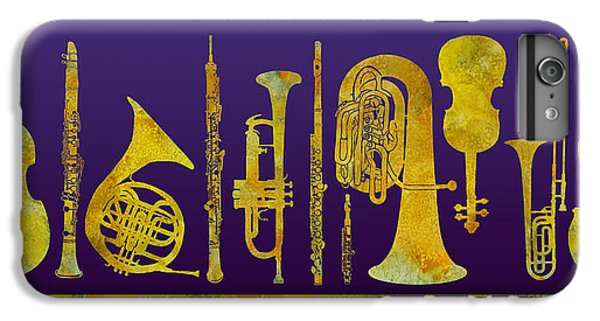 Trombone iPhone 8 Plus Case - Golden Orchestra by Jenny Armitage