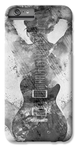 Rock And Roll iPhone 8 Plus Case - Guitar Siren In Black And White by Nikki Smith