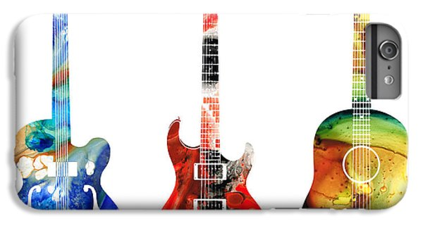 For iPhone 8 Plus Case - Guitar Threesome - Colorful Guitars By Sharon Cummings by Sharon Cummings