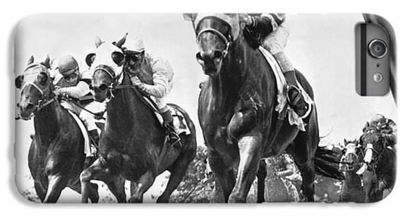 Horse iPhone 8 Plus Case - Horse Racing At Belmont Park by Underwood Archives