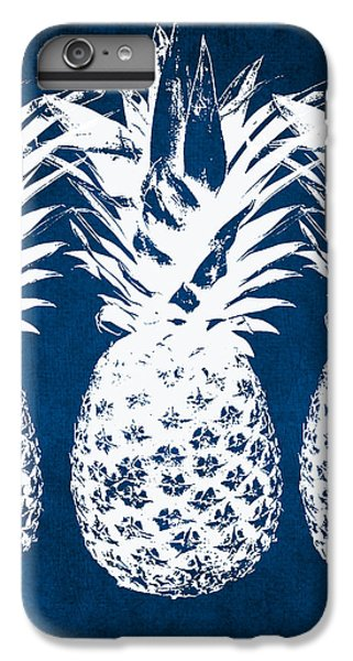 Beach iPhone 8 Plus Case - Indigo And White Pineapples by Linda Woods