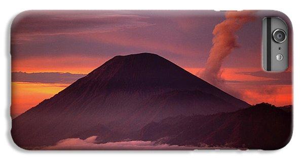 Mountain iPhone 8 Plus Case - Indonesia Mt Semeru Emits A Plume by Jaynes Gallery