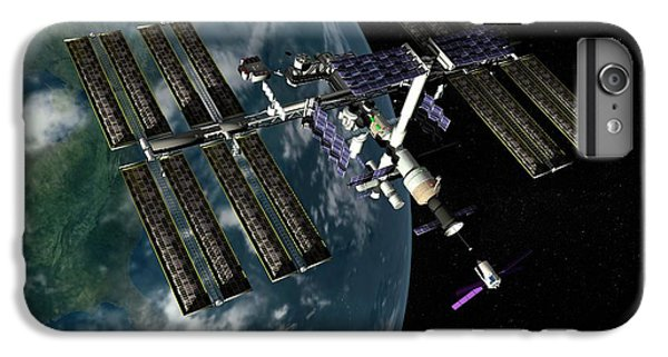 International Space Station iPhone 8 Plus Case - International Space Station by Paul Wootton/science Photo Library