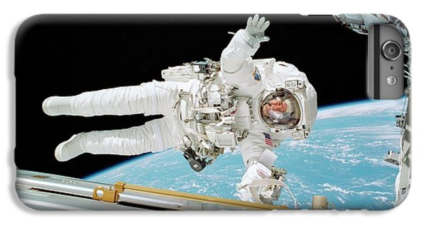 International Space Station iPhone 8 Plus Case - Iss Construction Space Walk by Nasa