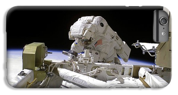International Space Station iPhone 8 Plus Case - Iss Spacewalk by Nasa/science Photo Library