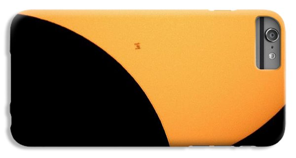 International Space Station iPhone 8 Plus Case - Iss Transit Of 2017 Solar Eclipse by Nasa/bill Ingalls/science Photo Library
