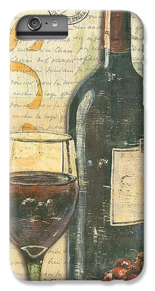 Red iPhone 8 Plus Case - Italian Wine And Grapes by Debbie DeWitt