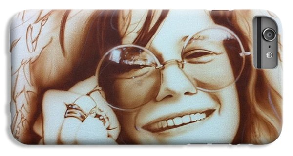 Rock And Roll iPhone 8 Plus Case - Janis by Christian Chapman Art