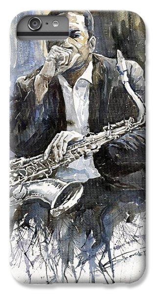 iPhone 8 Plus Case - Jazz Saxophonist John Coltrane Yellow by Yuriy Shevchuk