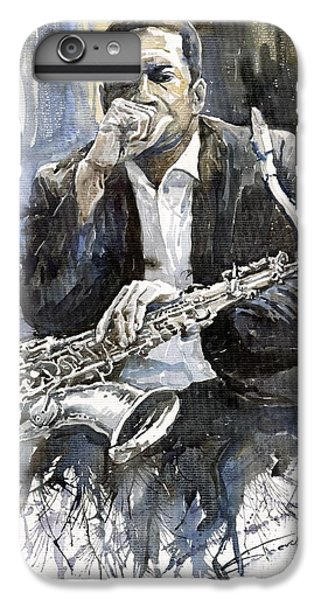 iPhone 8 Plus Case - Jazz Saxophonist John Coltrane Yellow by Yuriy Shevchuk