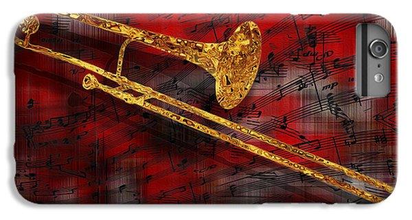 Trombone iPhone 8 Plus Case - Jazz Trombone by Jack Zulli