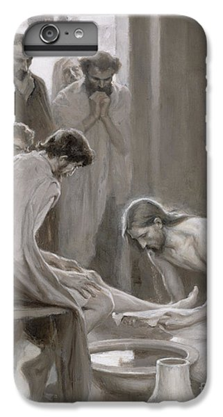 Lord iPhone 8 Plus Case - Jesus Washing The Feet Of His Disciples by Albert Gustaf Aristides Edelfelt