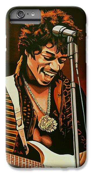 Knight iPhone 8 Plus Case - Jimi Hendrix Painting by Paul Meijering