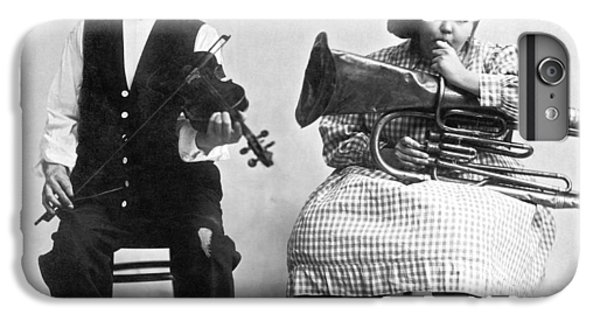 Violin iPhone 8 Plus Case - Jimmie And Blanche Creighton by Underwood Archives