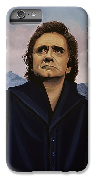 Rock And Roll iPhone 8 Plus Case - Johnny Cash Painting by Paul Meijering