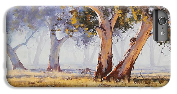 Impressionism iPhone 8 Plus Case - Kangaroo Grazing by Graham Gercken