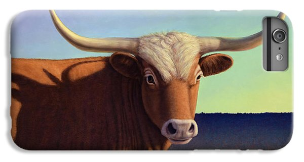 Bull iPhone 8 Plus Case - Lady Longhorn by James W Johnson