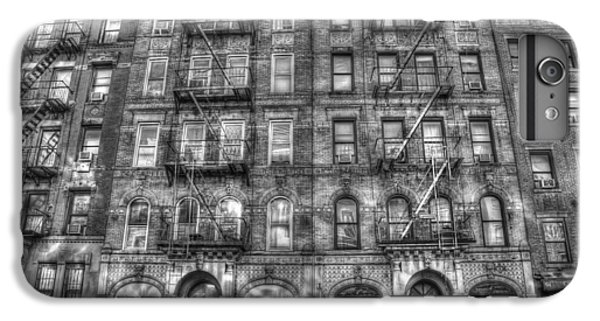 Rock And Roll iPhone 8 Plus Case - Led Zeppelin Physical Graffiti Building In Black And White by Randy Aveille