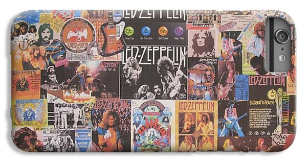 Drum iPhone 8 Plus Case - Led Zeppelin Years Collage by Donna Wilson