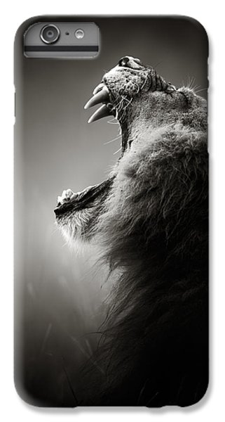 Cat iPhone 8 Plus Case - Lion Displaying Dangerous Teeth by Johan Swanepoel