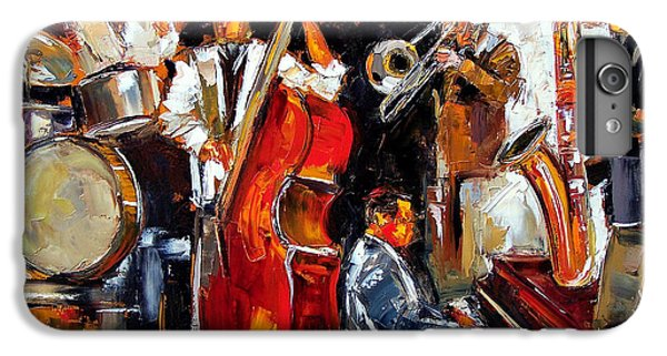 Trombone iPhone 8 Plus Case - Living Jazz by Debra Hurd