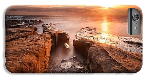 iPhone 8 Plus Case - Long Exposure Sunset At A Rocky Reef In by Larry Marshall