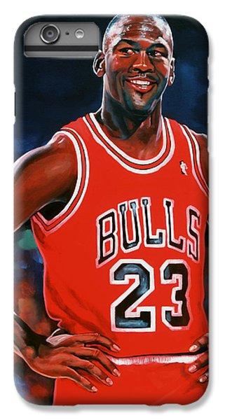 Red iPhone 8 Plus Case - Michael Jordan by Paul Meijering