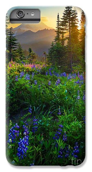 Mountain iPhone 8 Plus Case - Mount Rainier Sunburst by Inge Johnsson