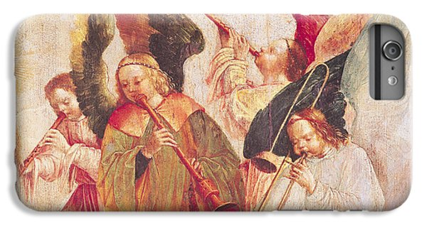 Trombone iPhone 8 Plus Case - Musical Angels, Detail From The Assumption Of The Virgin by Taborda Vlame Frey Carlos